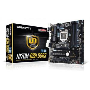 Gigabyte GA-H170M-D3H DDR3 Intel H170 Chipset LGA1151 DDR3 Skylake Micro-ATX Desktop Motherboard