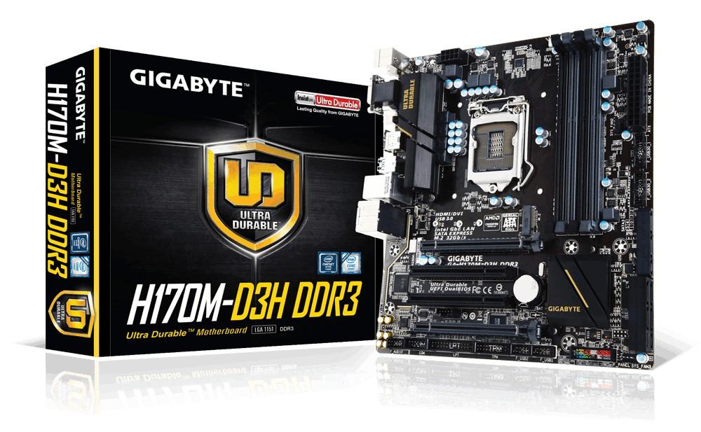 Motherboards - Gigabyte GA-H170M-D3H DDR3 Intel H170 ...