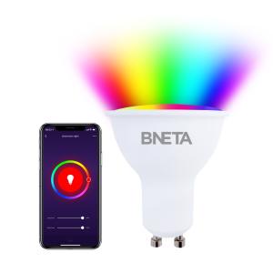 BNETA IoT Smart WiFi LED Bulb Plus – GU10 (Colour RGB + Warm/Cool White)