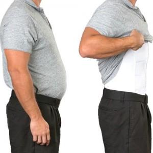 Tone Wear Men's Slimming Undershirts - Vests and T-Shirts - VEST - XXXL