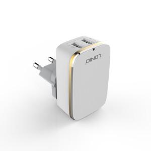 LDNIO A2204 2 Port Travel Charger – EU Plug – (Lightning - iPhone)