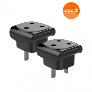 South Africa Female to British / UK Male (Type G to Type M) Travel Adapter - 2 pack