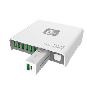 LDNIO A6802 6-Port USB Charger with 2600mAh Power Bank