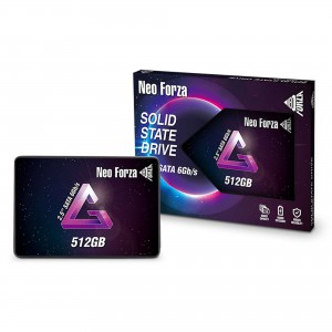 """Neo Forza 512GB 2.5"""" SSD Read/Write 540/500 MBps SATA Solid State Drive"""