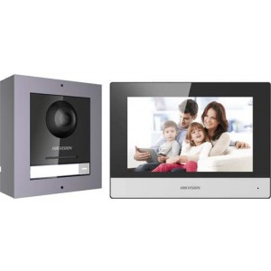 HIKVISION 1-1 Video Intercom Kit with SD Card and 4 Port Switch