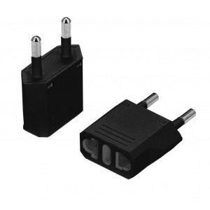USA To European South African Power Plug Converter (2 Round-Pin Plug)