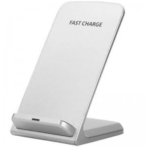 Fast Charge Wireless Desktop Charging Stand Charger - 2-Coil Qi