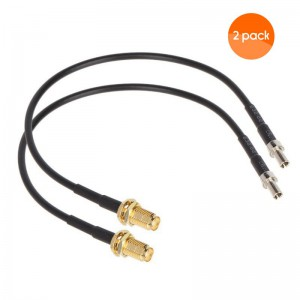 SMA to TS9 Pigtail Connector Converter (to connect antennas to routers like B618) - 2 pack