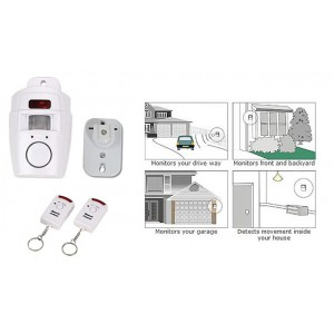 Motion Detector Alarm Kit - Remote Controlled On/Off