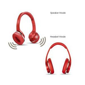Sodo MH5 Bluetooth Headset & Speaker 2-In-1 -Red