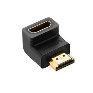 Ugreen HDMI 90° Down M to HDMI F Adapter - Black