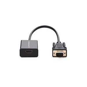 Ugreen Active HDMI F to VGA+3.5mm Jack Adapter - Black