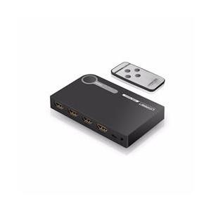 Ugreen 3X1 HDMI 3-Port Amplified Switch - Black