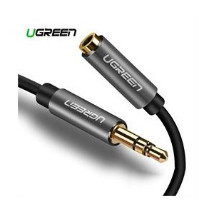 Ugreen 0.5m 3.5mm M to F Extension Adapter - Black
