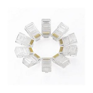 Ugreen RJ45 8P8C LAN Connectors 10 Pc - Crystal