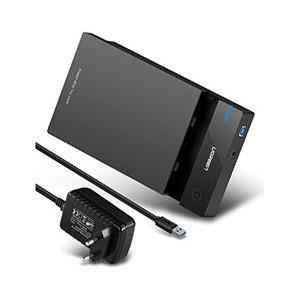 """Ugreen 3.5"""" USB3.0 SATA HDD Enclosure - Black"""