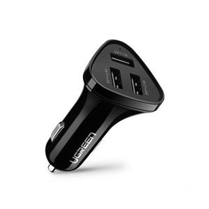 Ugreen 3port USB Car Charger 29W - Black