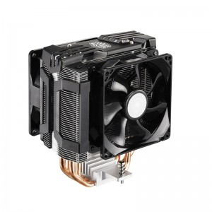 Cooler Master Hyper D92 - CPU Air Cooler with Dual 92mm Offset Push-Pull Fans and Accelerated Cooling System