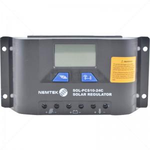 Nemtek Solar Regulator - 12V-24V 10A - 24V Auto Select - LCD