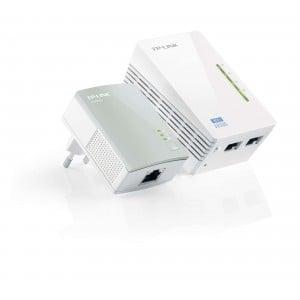 TP-Link WPA4220KIT 500Mbps Powerline Extender, 300Mbps Wi-FI Extender
