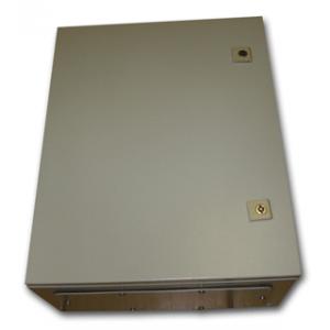 Metal IP55 Weatherproof Enclosure (500x400x210), Beige, Surface Mount Lockable Doors