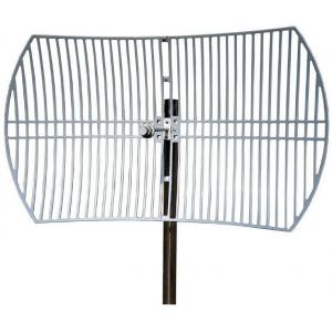 2.3GHz-2.5GHz -Wide Band Heavy Duty Grid Antenna - 24 dBi, Stainless Steel L-Bracket