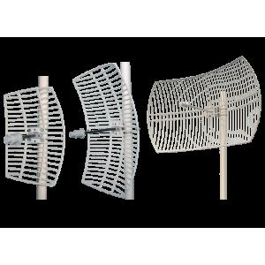 5GHz - Heavy Duty Grid Antenna - 30 dBi, Wideband (5150-5850), Beamwidth 4H, 6V