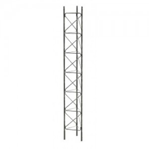 Lattice Mast 3m Section (Revised). New K bracing and flange joint.