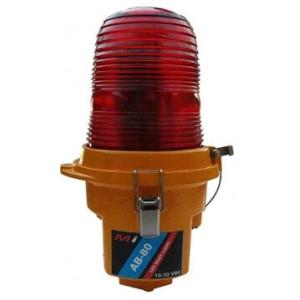 Micro Instruments LED Aircraft Beacon, RED, Tempered Glass, Aluminium Body, 11-36 VDC