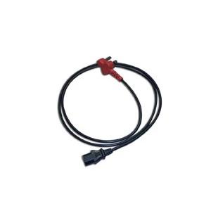 Dedicated SA plug to IEC 0.75x3 BK 1.80meter