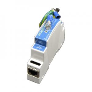 Din Rail Gigabit in-line Protector Power Over Ethernet - POE Mode A+B