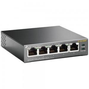 TP-Link 5 Port 10/100 Desktop PoE Switch, 5 x FE ports (4 PoE ports), 58W PoE Power Supply