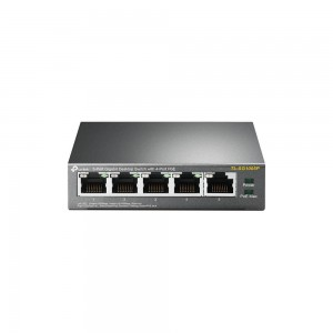 TP-Link 5 Port Gigabit Desktop PoE Switch, 5 x FE Ports (4 PoE ports), 56W PoE Power Supply
