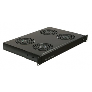 Acconet Fan Unit, 4 Fans, 1U, Black, Power Switch, C14 Power Connector, Power cable not incl.