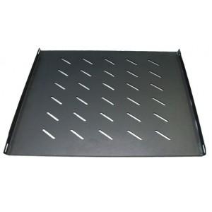 Acconet Fixed Shelf For 800mm Deep 18, 27, 42U Racks, 500mm Deep, 1U, Black