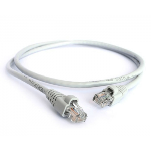 Acconet CAT5e UTP Flylead, 1 Meter, Straight (T568B) Stranded Cable, Moulded Boots and Plugs, Grey
