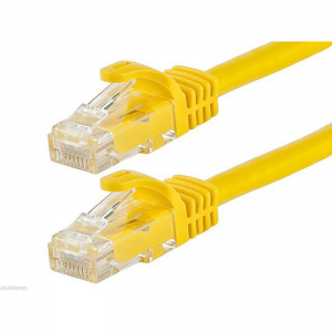 Acconet CAT6 UTP Flylead, 1 Meter, Straight, Stranded Cable, Moulded Boots and Plugs, Yellow