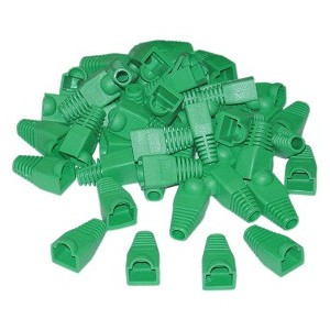Acconet RJ45 Connector Boots, Green, 50 Pack