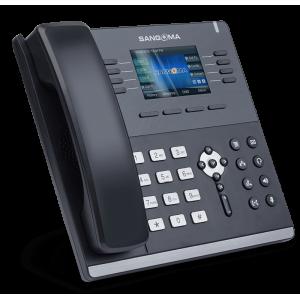 Sangoma - IP Phone S505 Mid Level Phone, 3.5 Inch Color screen, 35 Programable softkeys, 4 x VoIP ac