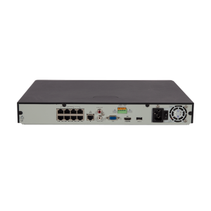 UNV - Ultra H.265 - 8 Channel NVR with 2 SATA HDD up to 8TB with 8 PoE Ports (Smart Analytics)