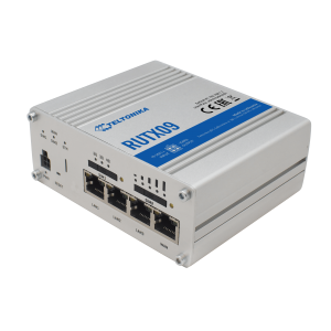 Teltonika Industrial LTE Cat.6 IoT Router w/ Quad-Core CPU, GNNS & GPS