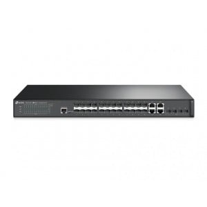 TP-Link JetStream 28-Port Gigabit SFP L2 Managed Switch, 24 x Gb RJ45 Ports, 4 x 10G SFP+ Slots