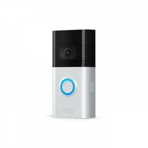 Ring Video Doorbell V3- Satin Nickel and Venetian Interchangeable Face plates with Duel Connectivity
