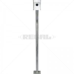 Gooseneck - Galvanised With Rainshield and Base Plate