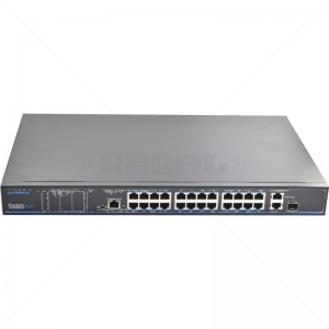 Utepo 24 Ports Unmanaged PoE 2 x GB Base-T + 1 GB Combo Port Switch