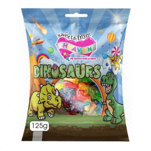 Sweets from Heaven 125g Dinosaurs - Unit (min 24 units)