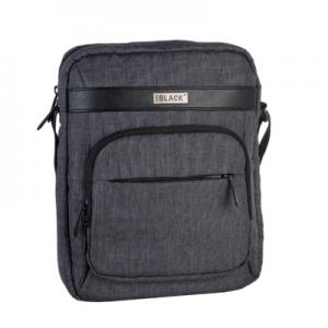 Black Globe Trotter 10.2 Inch Tablet Sling Bag - Black and Grey