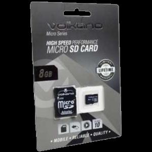 Volkano Micro Series Micro SD Card - With Adaptor 8GB - Black