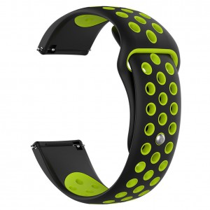 Fitbit Versa Silicone Watch Strap -Black and Yellow