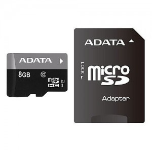 ADATA Premier 8GB microSDHC Flash Card with Adapter